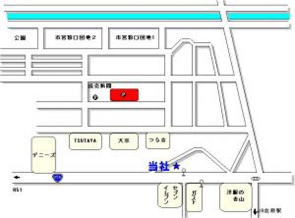 粉名口 駐車場 地図